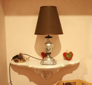 #lampada #tornita #argento #paralume #paralume marrone